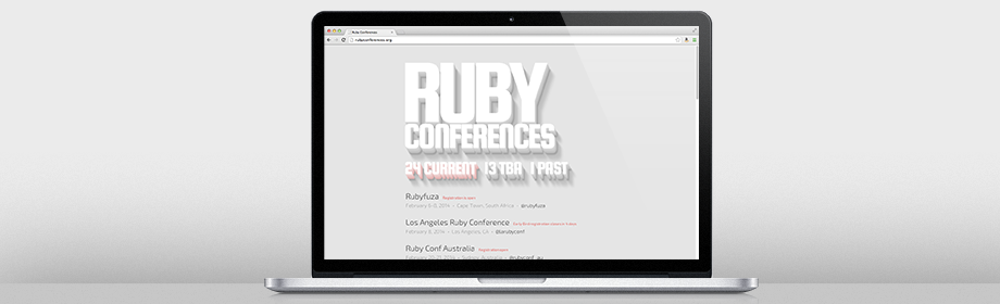 Heading image for A Simple List of Ruby Conferences